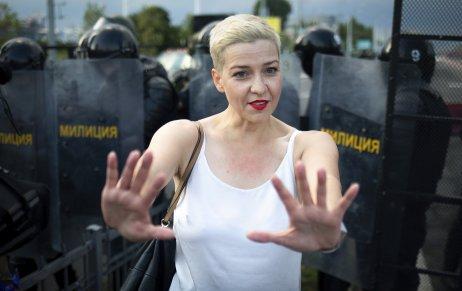 Bieloruská opozičná líderka Maryja Kalesnikavová. Foto – TASR/AP
