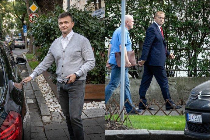 Predseda parlamentu Boris Kollár sa v piatok podvečer stretol s finančníkom Penty Jaroslavom Haščákom. Fotokoláž/foto N - Tomáš Benedikovič