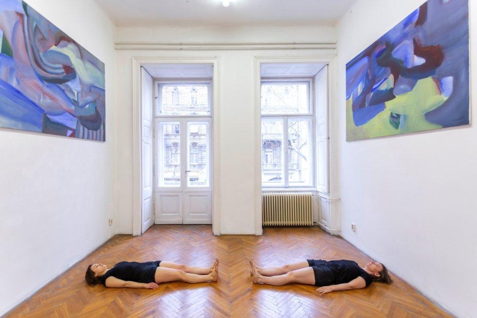 Z výstavy Ludmily Hrachovinovej Silent Immediacy, Knoll Gallery Budapest, 2020. Foto - Ján Šipöcz