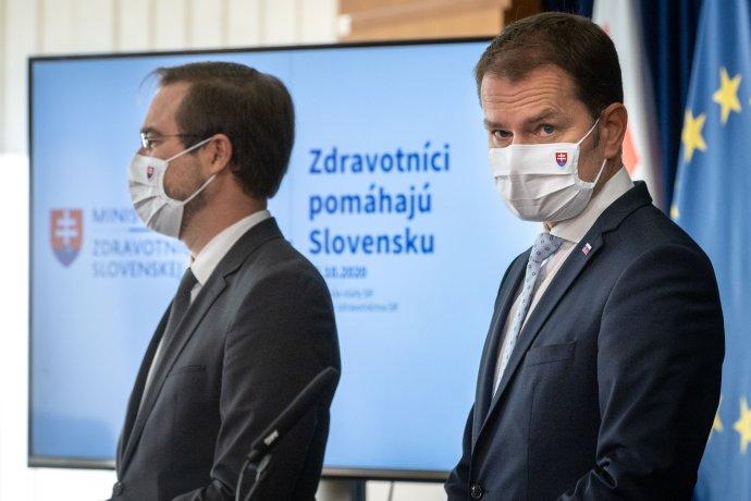 Igor Matovič a Marek Krajčí. Foto N - Tomáš Benedikovič