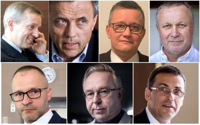 Jozef Čentéš, Ján Hrivnák, Tomáš Honz, Juraj Kliment, Rastislav Remeta, Ján Šanta a Maroš Žilinka. Foto – archív N, TASR a archív SME