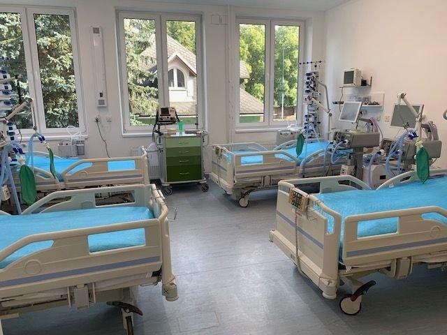 Nové oddelenie pre Covid pacientov v Ústrednej vojenskej nemocnici v Ružomberku Foto ÚVN