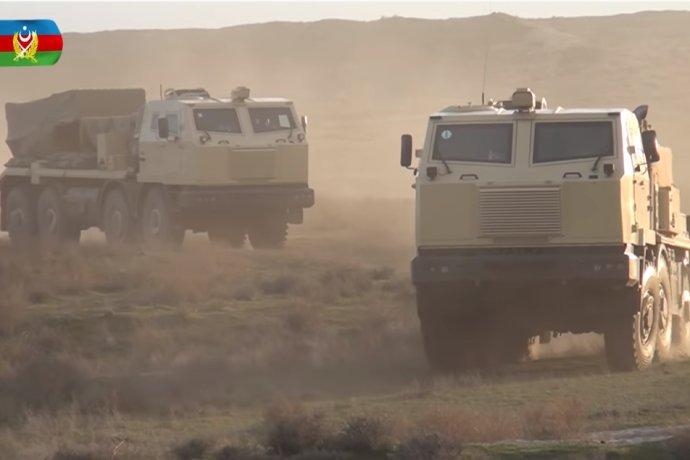 Modernizované raketomety RM-70 vo verzii Vampir, ktorú vyvinuli firmy českého zbrojára Strnada, sa objavili na videu z Azerbajdžanu tesne pred vypuknutím bojov. Foto - Mod.Gov.Az