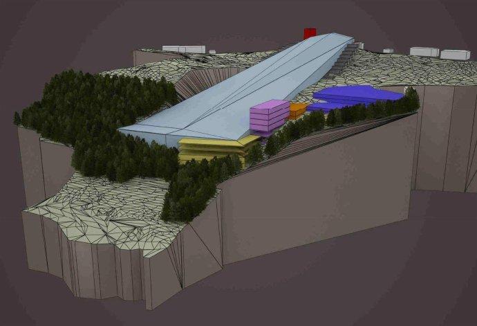 Vizualizácia letnej lyžiarskej haly na Donovaloch. Reprofoto - enviroportal.sk