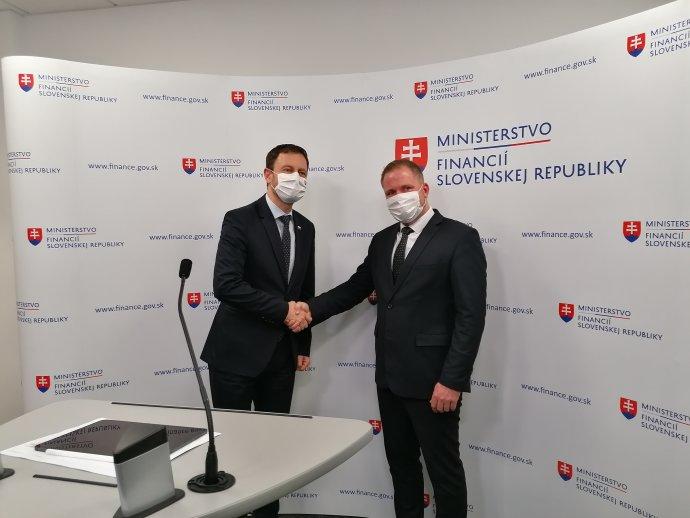 Jiří Žežulka a Eduard Heger. Foto - TASR