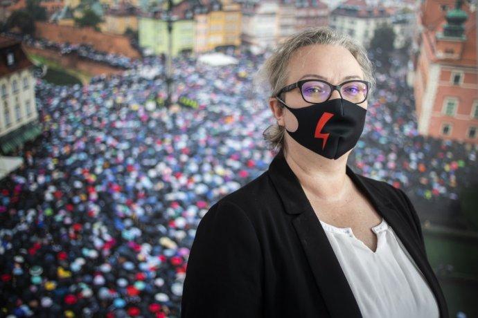 Organizátorka celopoľských protestov Marta Lempartová. Foto - Deník N/Gabriel Kuchta