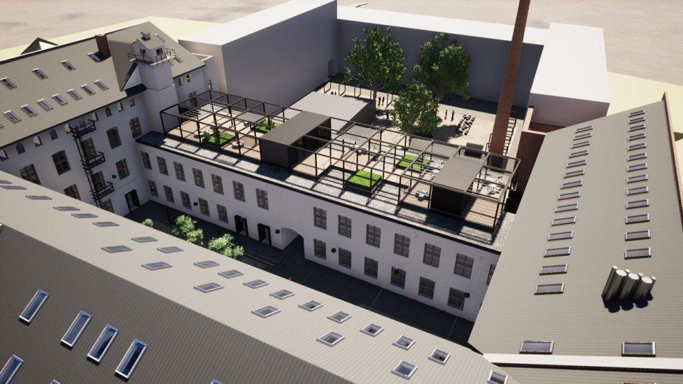 Vizualizácia budovy na Strojárenskej po rekonštrukcii, na ktorú župa získala necelých 18 miliónov eur. Foto – KSK