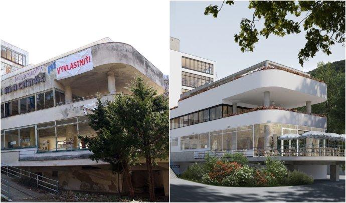 Súčasný stav Machnáča a navrhovaná obnova. Foto - SPK, ateliér ô