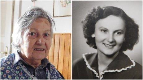 Květoslava Bartoňová v roku 2016 a v roku 1946. Cenu Pamäti národa dostala in memoriam. Foto – Post Bellum