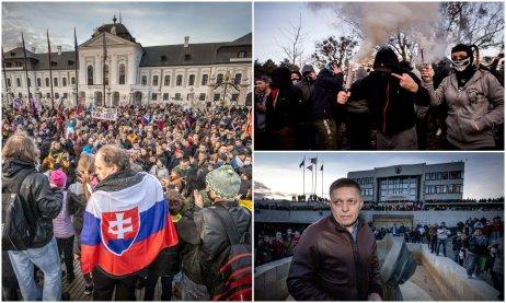 Zábery z utorňajších protestov v Bratislave. Foto N – Tomáš Benedikovič a Vladimír Šnídl