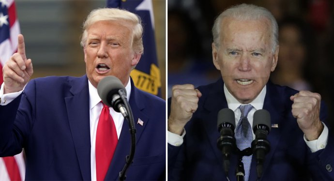 Donald Trump a Joe Biden. Foto: TASR/AP
