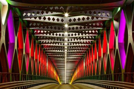 Starý most osvetlený tímom BN Label v rámci zimnej edície festivalu Biela noc. Foto – Jaroslav Novák