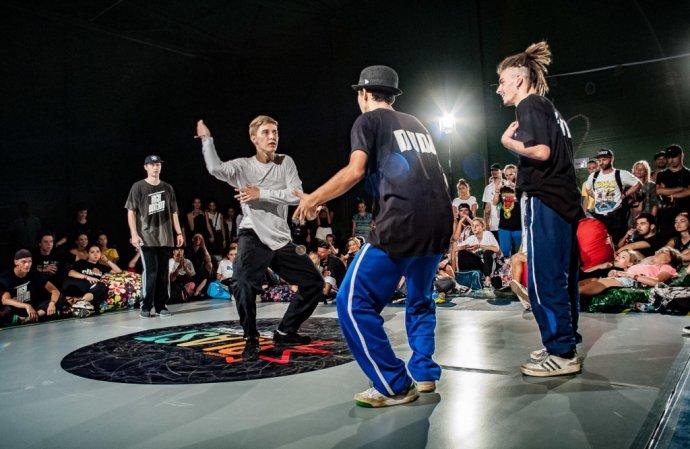 Tanečníci počas festivalu The Legits Blast v Banskej Bystrici v roku 2018. Foto - TASR/AP