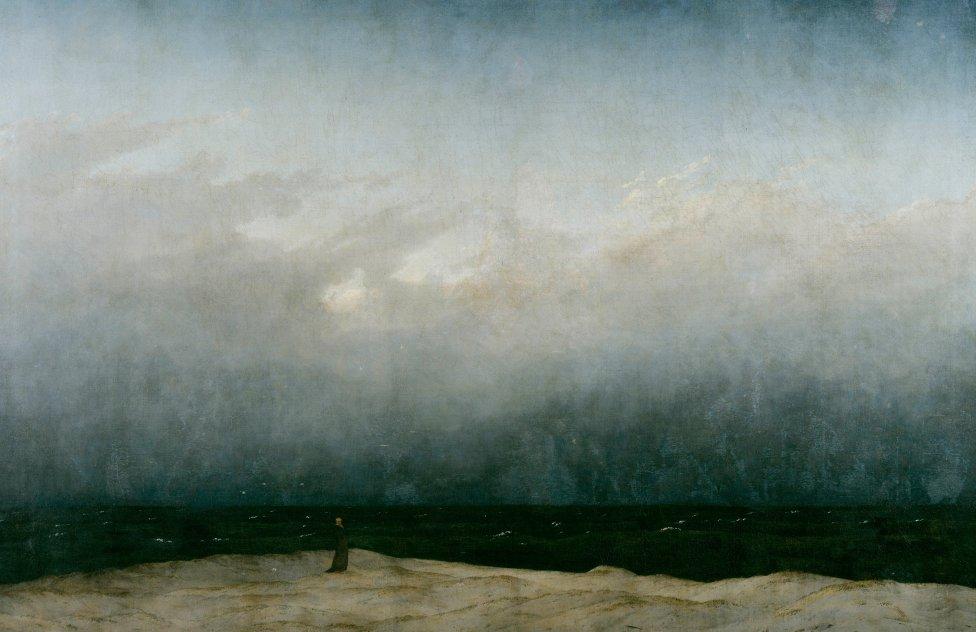 Človek, príroda, univerzum. Caspar David Friedrich - Der Mönch am Meer (1808/1810)