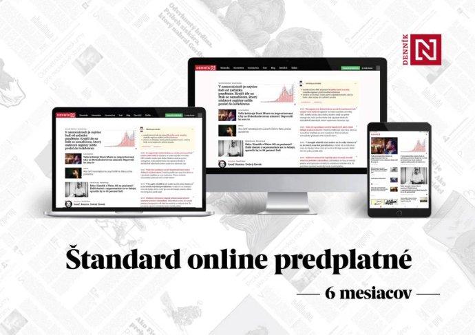 Štandard online predplatné Denníka N - 6 mesiacov