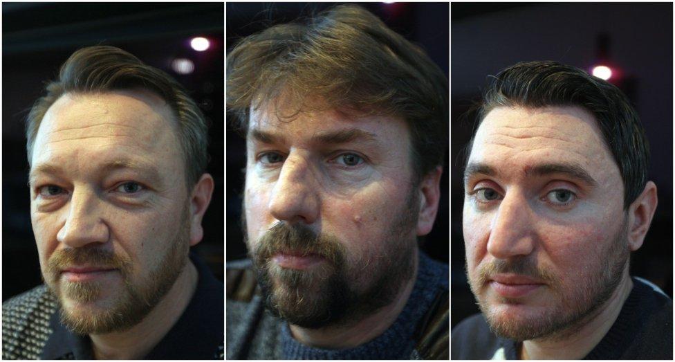 Traja zastrašovaní aktivisti Radovan Geci, Marek Boka a Milan Kaplan. Foto N – Andrej Bán