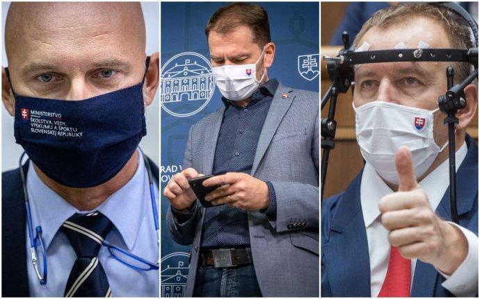 Branislav Gröhling, Igor Matovič a Boris Kollár. Foto – N a TASR