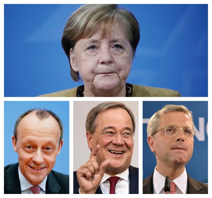 Merz, Laschet alebo Röttgen? CDU si vyberie za svojho nového lídra jedného z nich. Foto - TASR/AP