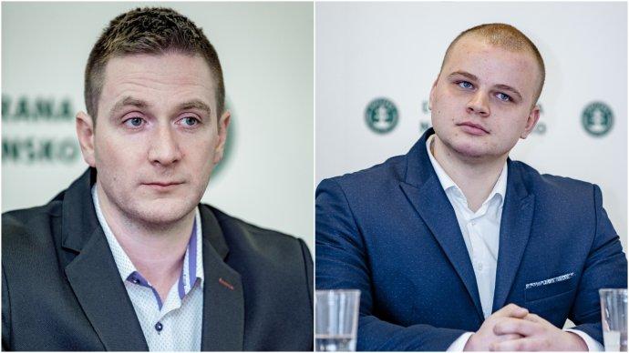 Uhrí k(vľavo) a Mazurek končia v predsedníctve ĽSNS. Foto - tasr