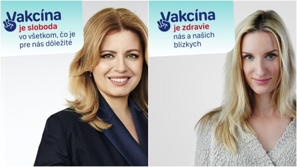 Prezidentka a Adela Vinczeová v kampani ministerstva zdravotníctva. Foto - MT
