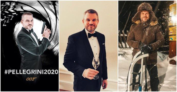 Pellegriniho fotky zo Silvestra 2019 (vľavo a v strede) a z 27. decembra. Foto - FB P. P.