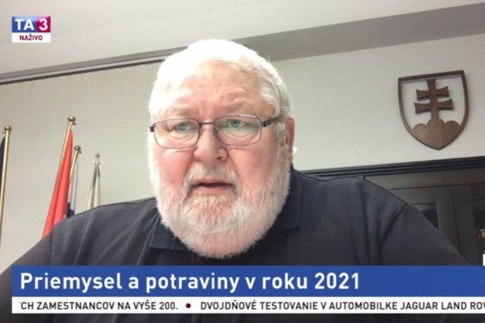 Šéf Železiarni Podbrezová Vladimír Soták v relácii TA3 Téma dňa