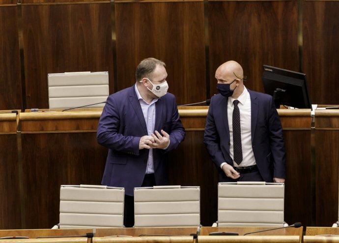 Richard Vašečka (vľavo) a Branislav Gröhling (vpravo). Foto - TASR