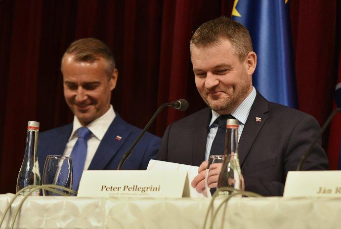 Bývalí vládni digitálni lídri Richard Raši a Peter Pellegrini. Foto - TASR
