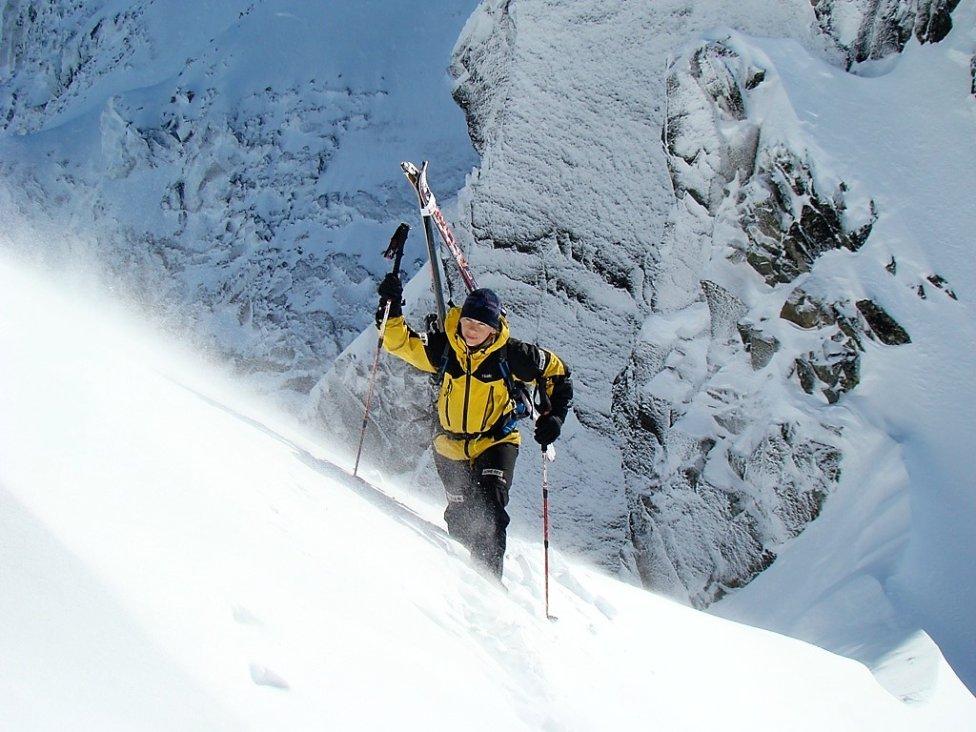 Iva Sikulová vo Vysokých Tatrách dva roky po tom, ako prežila pád lavíny. Foto – archív IS
