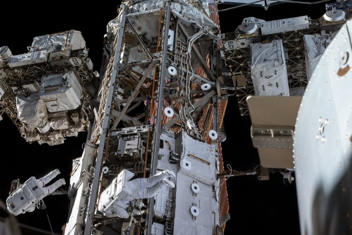 Výstup do vesmíru. Foto - Európska vesmírna agentúra