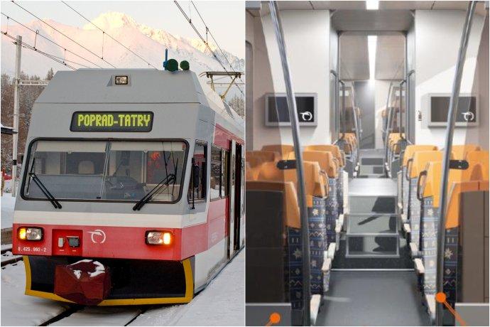 Elektrické súpravy 425.95 vyrobili ŽOS Vrútky v licencii švajčiarskej firmy Stadler, ZSSK plánuje ich modernizáciu, ktorá bude zahŕňať aj zmenu interiéru. Foto – Commons.Wikimedia, Honza Groh. Vizualizácia – ZSSK