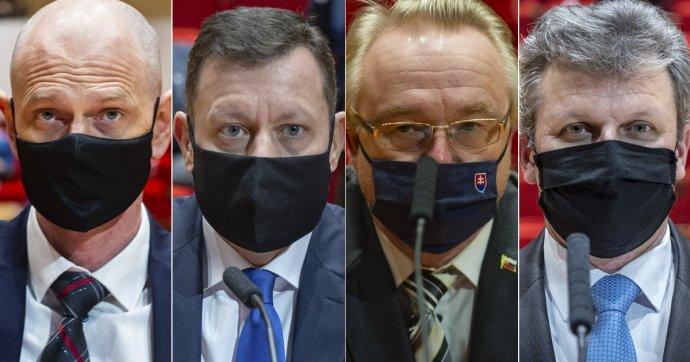 Peter Kysel, Daniel Lipšic, Ján Šanta a Vasiľ Špirko. Foto – N/Tomáš Benedikovič; TASR
