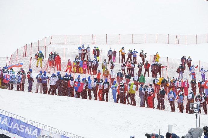 Počas slalomu SP v Jasnej. Foto - TASR/Michal Svítok