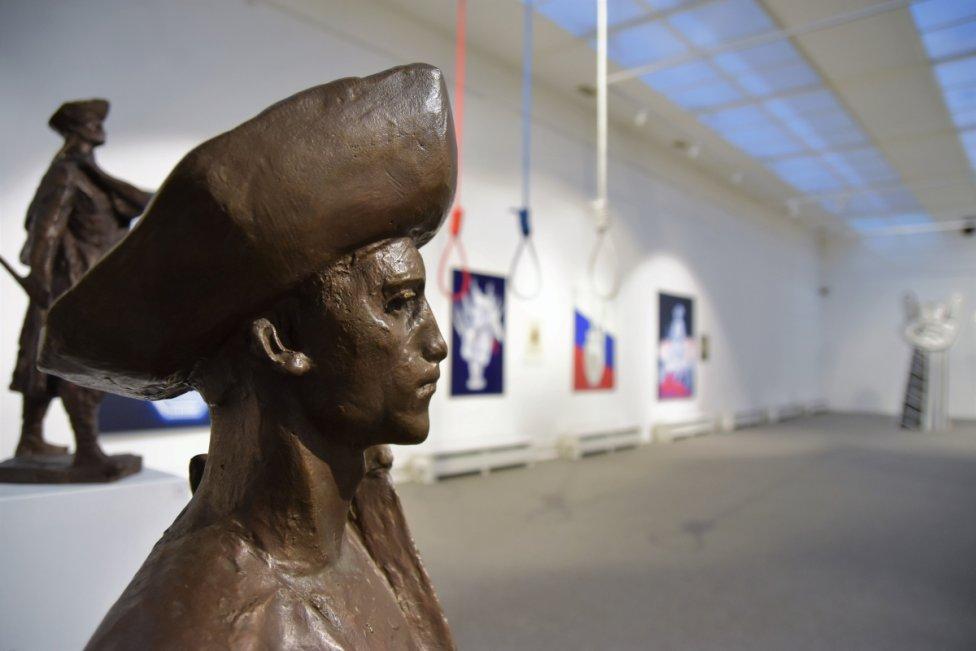 Z výstavy Matúša Maťátka v liptovskej galérii. Foto - LGPMB