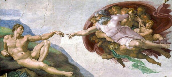 Michelangelo. Stvorenie Adama. Foto – Wikimedia/cc