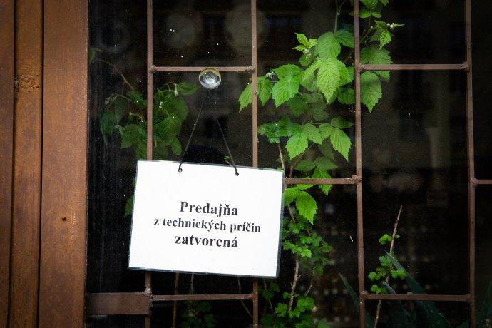 Zatvorená predajňa v Košiciach. Foto N - Tomáš Hrivňák