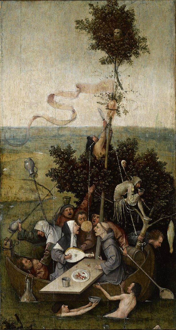 Hieronymus Bosch: Loď bláznov (okolo roku 1500). Zdroj: commons.wikimedia.org