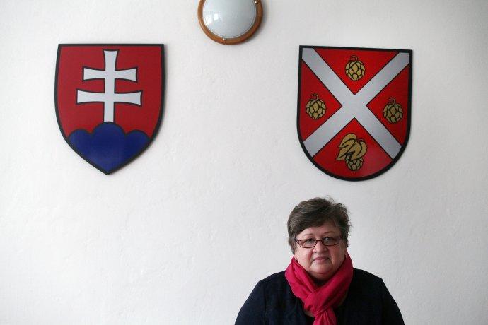 Starostka obce Chmeľnica Zita Pleštinská. Foto N - Andrej Bán