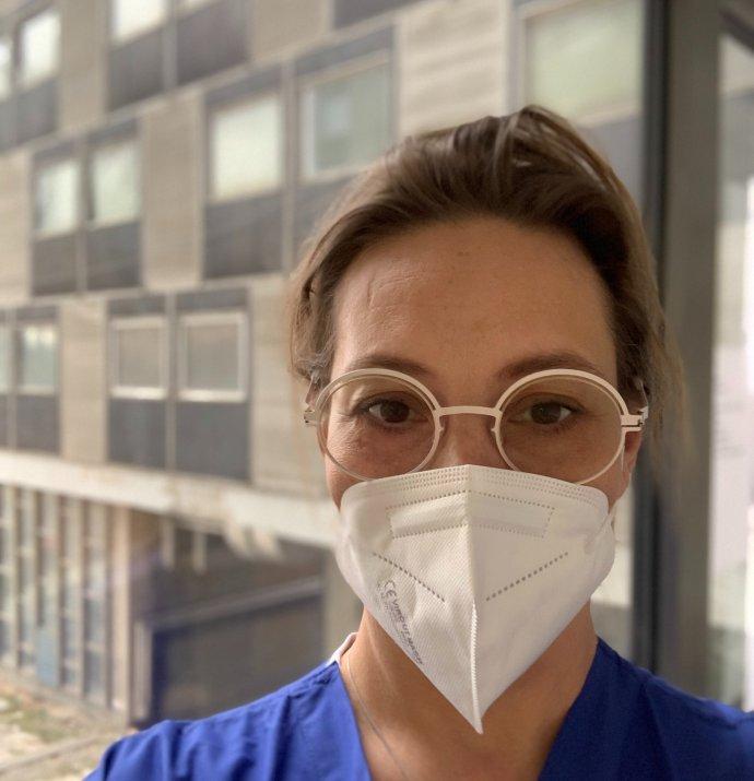 Hejdi Gamst-Jensenová, MSc, PhD, RN, z Dánska pracovala necelé dva týždne na JIS v Rooseveltovej nemocnici v Banskej Bystrici. Foto – archív Hejdi Gamst-Jensenová