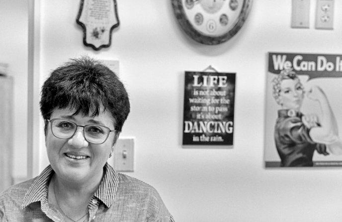 Profesorka Polina Stepenská je detská hematologička. Vedie oddelenie transplantácií kostnej drene na klinike Hadassah v Jeruzaleme. Foto - Sergej Mostovščikov