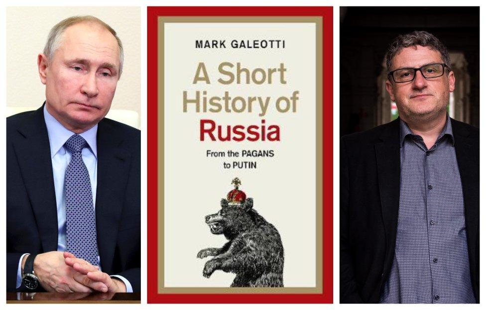 Od pohanov po Putina. Mark Galeotti napísal novú knihu o ruských dejinách. Foto - TASR/AP, Penguin, Vladimír Šimíček