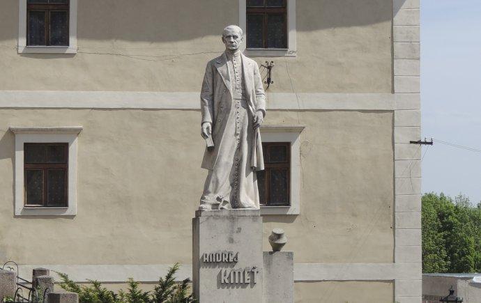Socha Andreja Kmeťa v Banskej Štiavnici. Foto - TASR