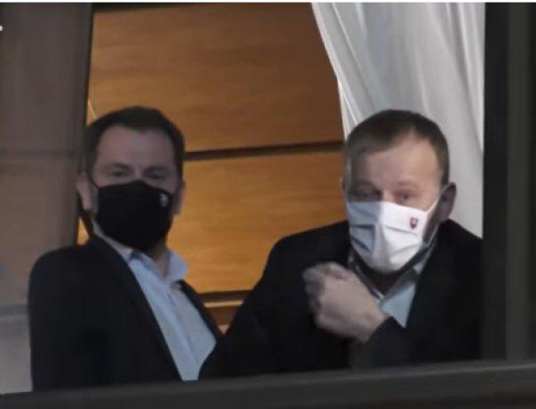 Igor Matovič a Boris Kollár po rokovaní koalície. Reprofoto – video TASR
