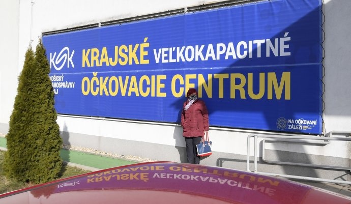 Krajské očkovacie centrum v Košiciach. Foto - TASR