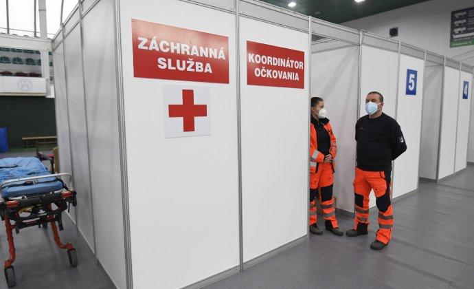 Veľkokapacitné očkovacie centrum v Prešove. Foto - TASR