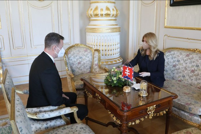 Jozef Hlinka u prezidentky. Foto - Prezidentská kancelária