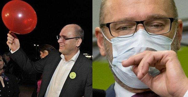 Sulík a Sulík: s legendárnym balónikom počas volebnej noci 2010 a dnes. Foto – TASR