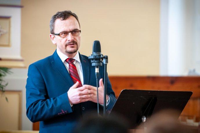 Riaditeľ Evanjelickej spojenej školy v Martine Jozef Sopoliga. Zdroj - archív J. S.