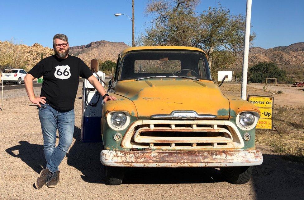 Marián Pavel na Route 66. Foto – archív M. Pavela