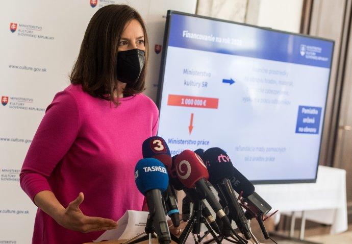 Ministerka kultúry Natália Milanová (OĽaNO). Foto - TASR/Martin Baumann